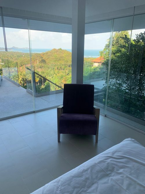 Villa Little Paradise - Master Bedroom view over the Gulf of Thailand
